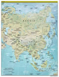 Asia Land Map