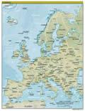 Europe Land Map